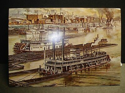 Sternwheeler Paddleboat PACIFIC No 2 Naval Cover unused postcard PITTSBURGH, PA