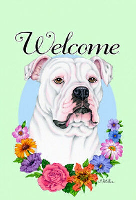 Large Indoor/Outdoor Welcome Flag (Flowers) - American Bulldog 63300