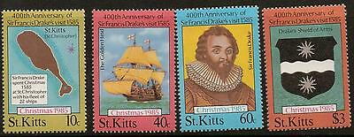 St.kitts Sg181/4 1985 Christmas Mnh