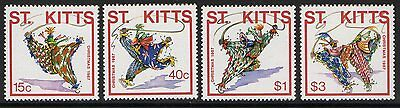 St.kitts Sg246/9 1987 Christmas Mnh