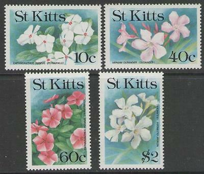 St.kitts Sg330/3 1991 Flowers Mnh