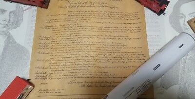 Vintage Philip Morris 200th Anniversary Copy of the Bill of Rights w/ Tube