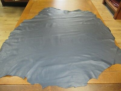 BEAUTIFUL SOFT ANTHRACITE GENUINE Leather Skin £35 VERY WORKABLE Ref. SAN 142.