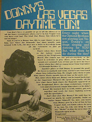 Donny Osmond, Osmonds Brothers, Mark Hamill, Double Full Page Vintage Clipping