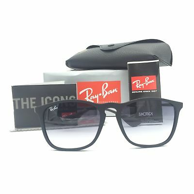 New Ray-Ban RB4187 622/8G Black Squared Sunglasses Polarized Gradient Lens 54mm