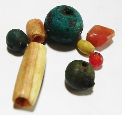 Zurqieh - As4584- Ancient Egypt, New Kingdom Group Of Beads. 1300 - 1100 B.c