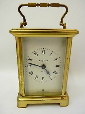 BAYARD vintage French 8 day wind up mantel carriage clock in working order