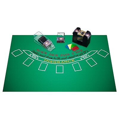 Blackjack Accessories Set Layout Shoe Shuffler Cards Casino Night Games