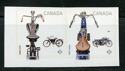 Canada Motorcycles Sc #2648, Pair Of Stamps From Booklet, Self-Adhesive Stamps