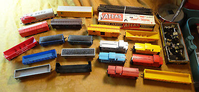 Lot Of HO Scale Train Cars and Track Plus Switches - Free S&H USA