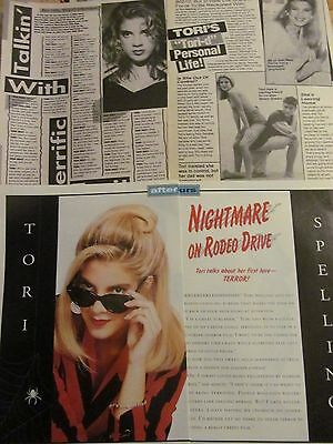 Tori Spelling, Lot of THREE Vintage Clippings