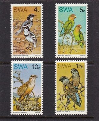 South West Africa #363-366 Mnh Complete Set Of Rare Birds