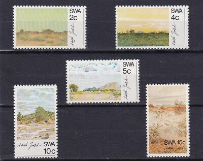 South West Africa #338-342 Mnh Various Landscapes By Adolph Jentsch