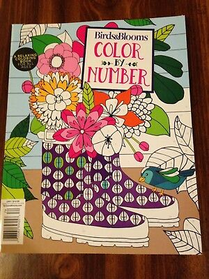 Birds And Blooms Color By Number Adult Coloring Book