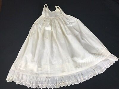 Antique/vintage 1900'S Era Ivory/off White Long Baby Petticoat Slip Or Gown
