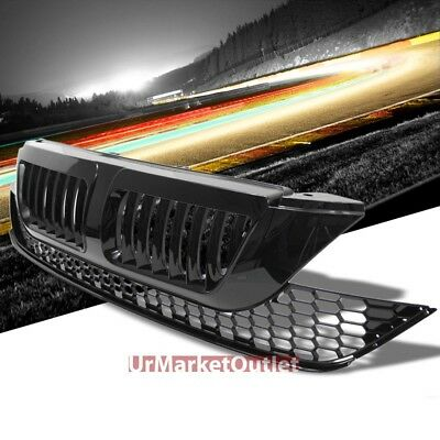 Black Vertical Style Replacement Grille For Honda 07-09 CR-V 2.4L DOHC RE3/RE4
