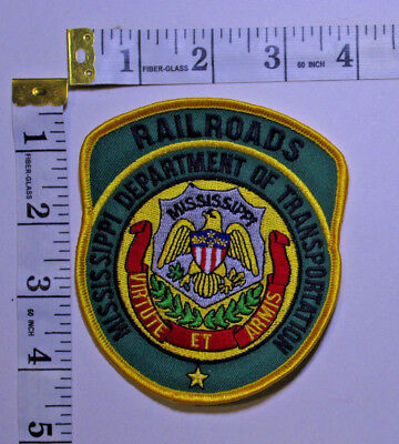 Mississippi Department Of Transportation Railroad Police Shoulder Patch