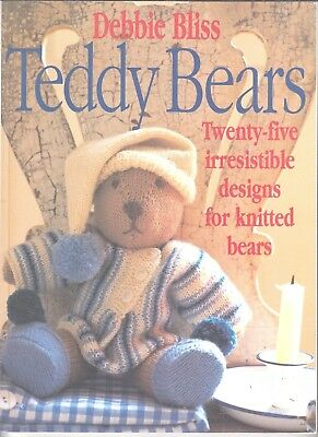 Twenty-Five Irresistible Designs for Knitted Bears, Debbie Bliss, KNITTING BOOK