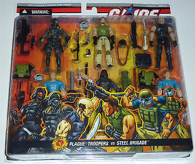 G.i.joe 2006 Plague Troopers Vs Steel Brigade 6-Pack Moc Neu & Ovp Gi Joe Rare