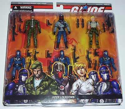 G.i.joe 2006 Viper Lockdown 6-Pack Moc Neu & Ovp Gi Joe Rare Cobra