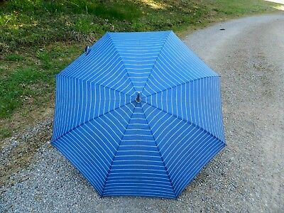 Vintage Ladies Umbrella Blue Red White