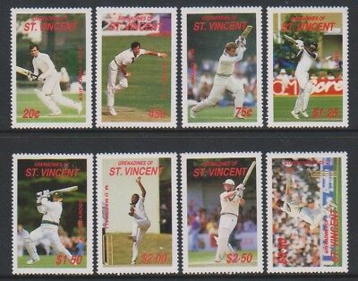 St Vincent Grenadines - 1988, Cricketers of 1988 set - MNH - SG 573/80