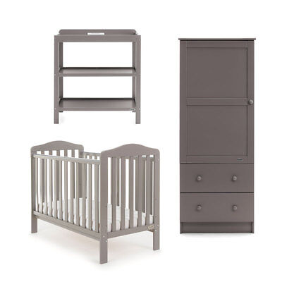 Obaby Ludlow 3 Piece Nursery furniture room set - Grey