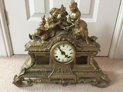 STUNNING ANTIQUE ITALIAN STRIKING MANTEL CLOCK with FHF MOVEMENT