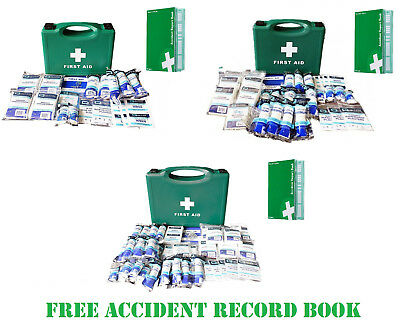 1-10 1-20 1-50 HSE Compliant Large First Aid Kit Bag Box Refill Accident Book CE