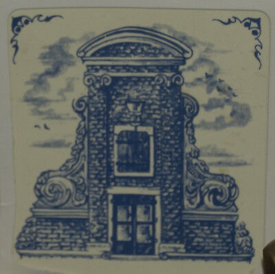 """KLM 3"""" tile 1982: #9 - delft collectible tile 17th century heightened neck gable"""
