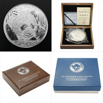 US 4'' 2018 Chinese Giant Panda 1kg Large Silver Aniversary Coin + Display Box