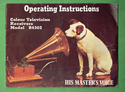 "#Oo.   ""His Masters Voice""  Television  Insruction Booklet"