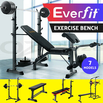 Everfit Weight Bench/ Squat Rack/ Sit-up Bench/ Chin Up/ FID Bench Press/Gym