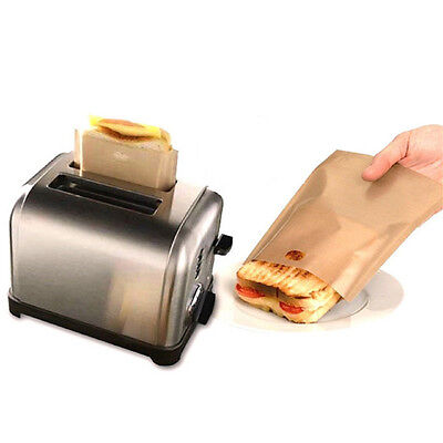 Easy Reusable Non-stick Toaster Bags for Grilled Cheese Sandwiches MadeATAU
