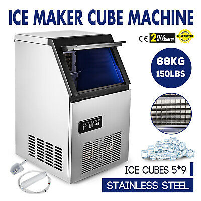 150LB Built-In Commercial Ice Maker Undercounter Freestand Ice Cube Machine 5*9