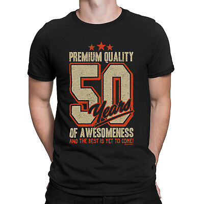 79fd6d790 Mens 50th Birthday T-Shirt 50 YEARS OF AWESOMENESS Dad Son Brother Funny  Gift