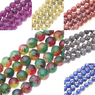 Lots 25/50Pcs 8mm Chic Czech Glass Round Loose Spacer Beads Jewelry Making