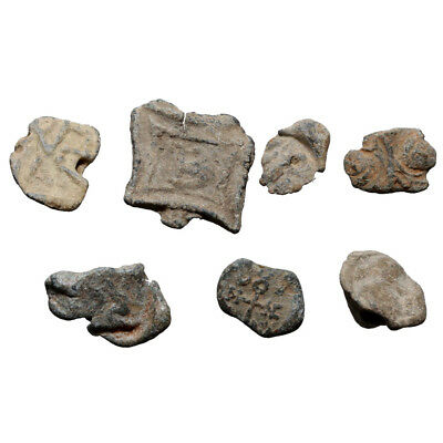Lot of 7 Roman and Byzantine Lead tokens and Seals