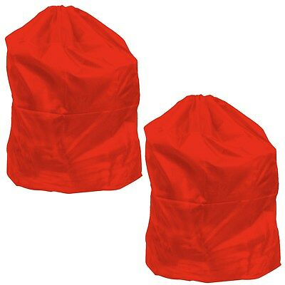 Heavy Duty Jumbo Sized Nylon Laundry Bag - RED - Set of 2 - Great for College