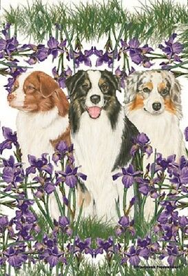 Garden Indoor/Outdoor Pipsqueak Flag - Australian Shepherd Trio 495861