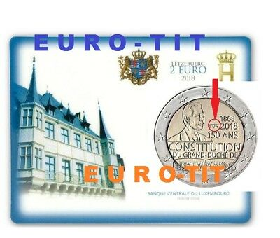 COINCARD   LUXEMBOURG  2018     7500  ex   TRES  RARE  /    2018      disponible