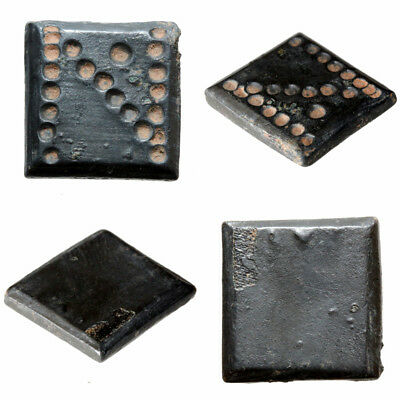 Byzantine Bronze Square Weight with N For one Solidus Circa 500-700 AD