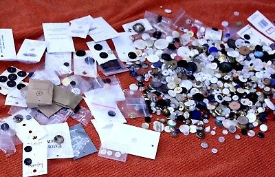 Mixed Lot of Antique Vintage Estate Buttons some NOC varied styles colors shapes