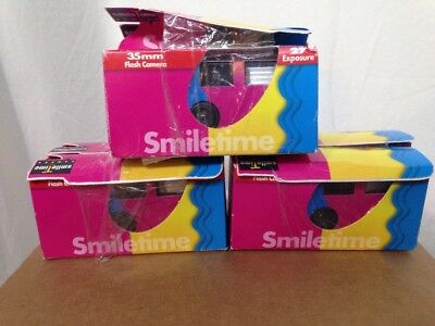 Lot Of 6 SmileTime Disposable Cameras