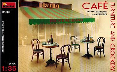 MiniArt Café Furnitue and Crockery M1:35 Bausatz Model Kit 35569 Diorama