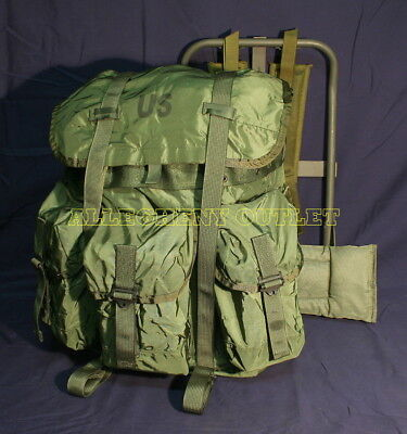 US Army Military MEDIUM OD ALICE PACK COMBAT FIELD BACKPACK COMPLETE EXCELLENT