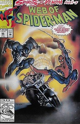 Web of Spider-Man No.96 / 1993 Guest-Starring: Ghost Rider Johnny Blaze & Venom