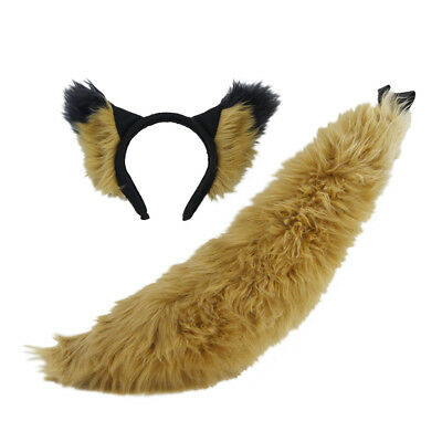 3601 Rust Brown cosplay Halloween COSTUME FOX PAWSTAR Furry WOLF TAIL RU