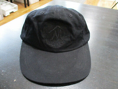 11d1165cc1111 VINTAGE Marlboro Country Store Leather Strap Back Hat Cap Black Red Dad Hat  90s