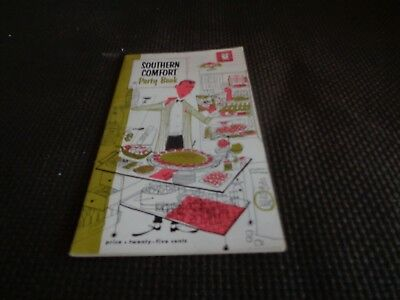Vintage Southern Comfort Party Book Cocktail Recipes Bar Guide Drinks Mixed